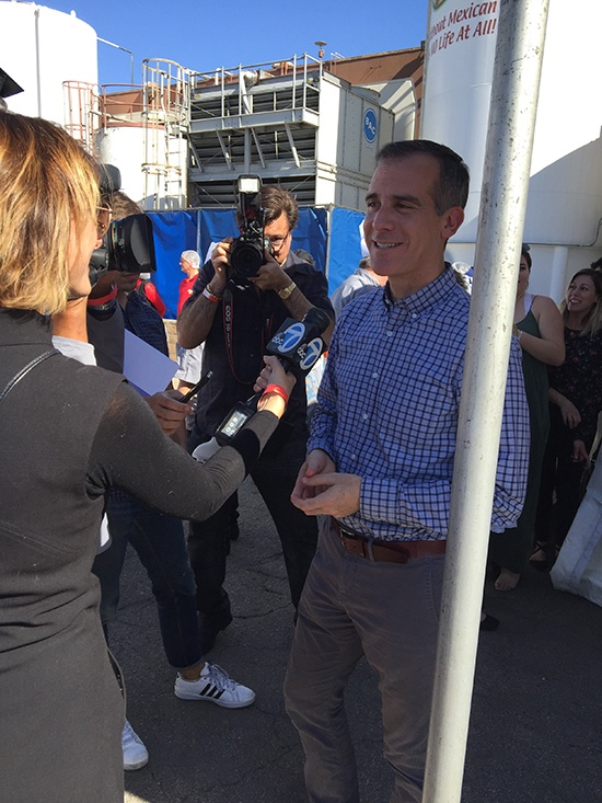 Juanita's and The Art Institutes; Mayor Eric Garcetti