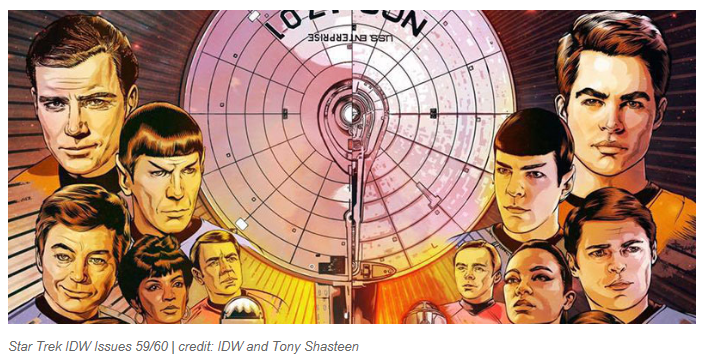 Tony Shasteen Illustration Work for Star Trek Comic Books