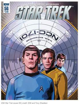 Shasteen Illustration Work on Star Trek Comic Books
