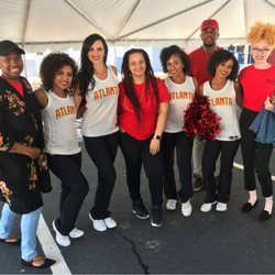 Ai Atlanta Student Ambassadors with Atlanta Hawks Cheerleaders at At-Promise Grand Opening