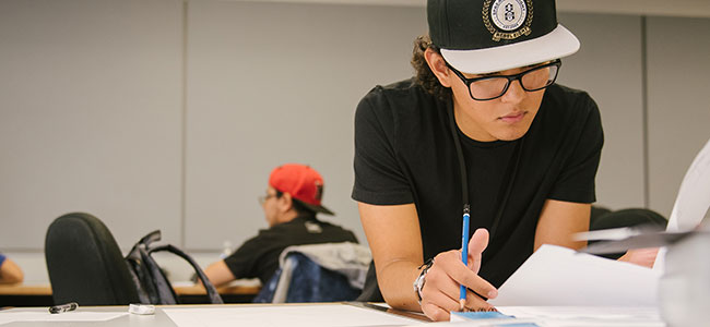 Marketing student working at The Art Institute of Austin