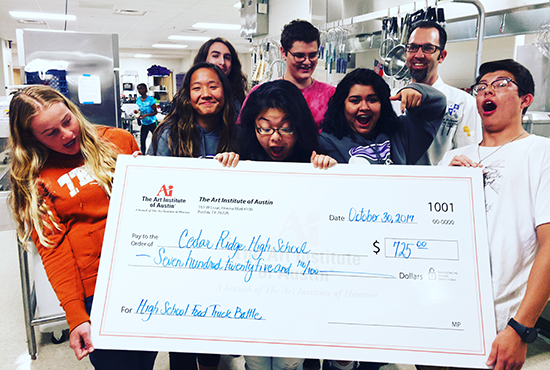 Cedar Ridge High School Receives Donation From The Art Institute of Austin