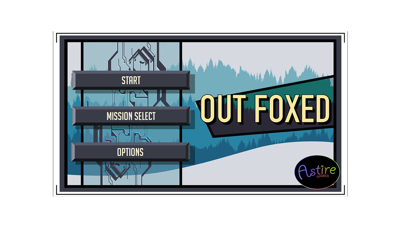 Out Foxed Start Screen by James Hastings