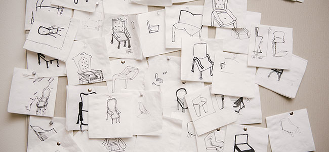 Student Sketches from The Art Institute of Dallas Interior Design School