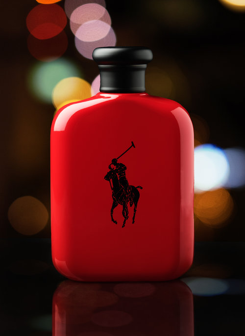 Red Cologne Bottle