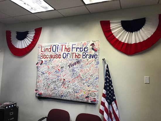 The Art Institute of Fort Lauderdale, Patriotic Interior, Veteran Resource Center