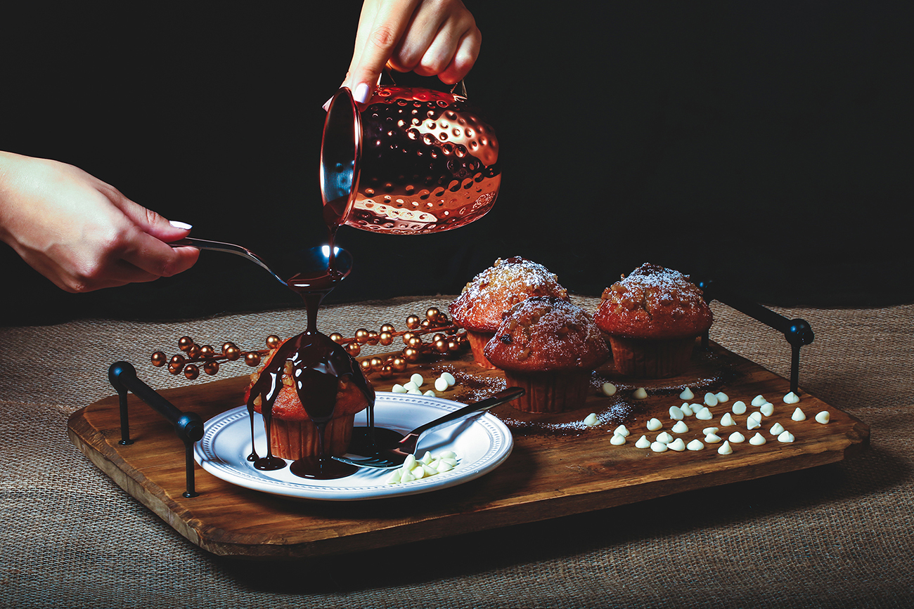 Food Photography, Muffins, Chocolate