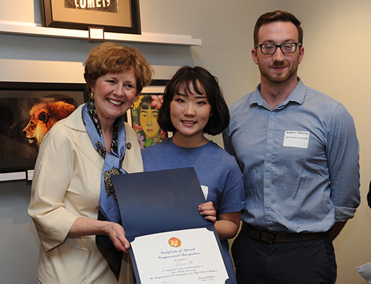 Jiwon Yu of Carmel High School wins the 5th District Congressional Art Competition