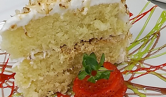 Detail of Coconut Cake