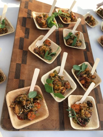 2018 LA Times Food Bowl Cuisine plating