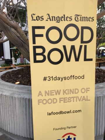 2018 LA Times Food Bowl Sign
