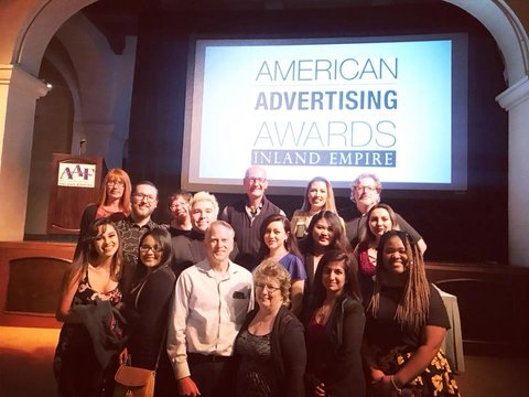 AiCAIE group photo at the 2018 ADDY Awards