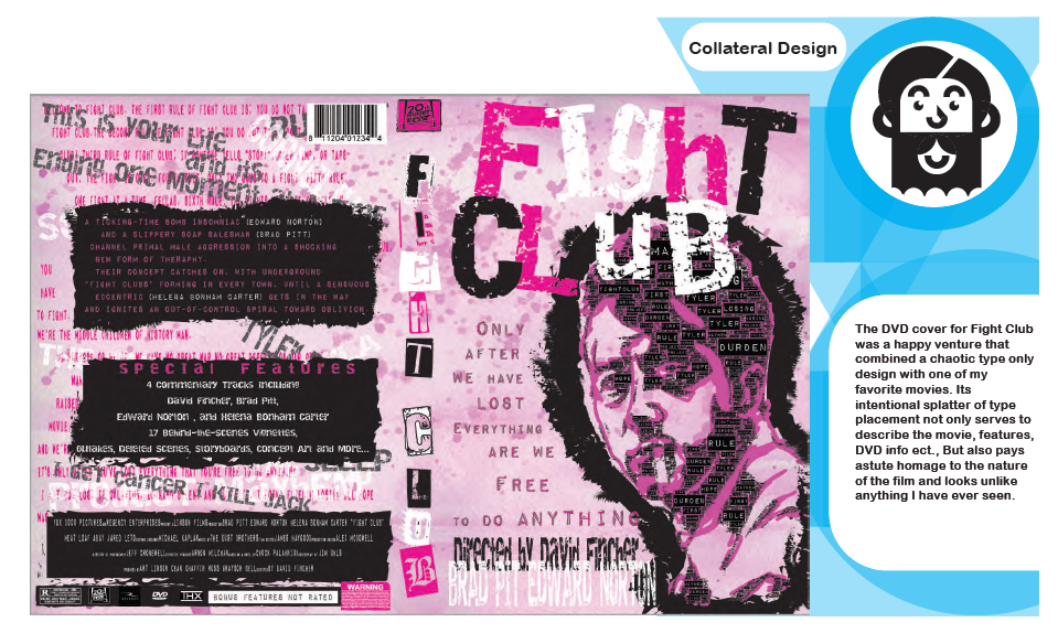 DVD cover design for Fight Club