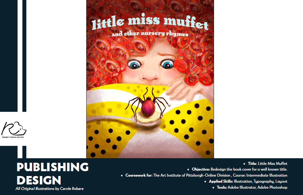 Little Miss Muffet book cover design