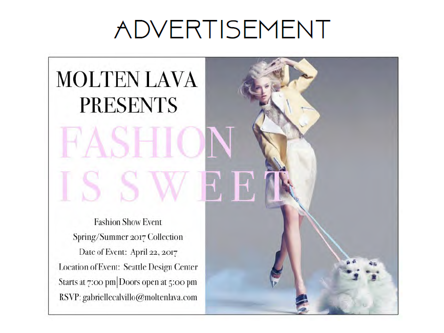 Fashion is Sweet, ad campaign