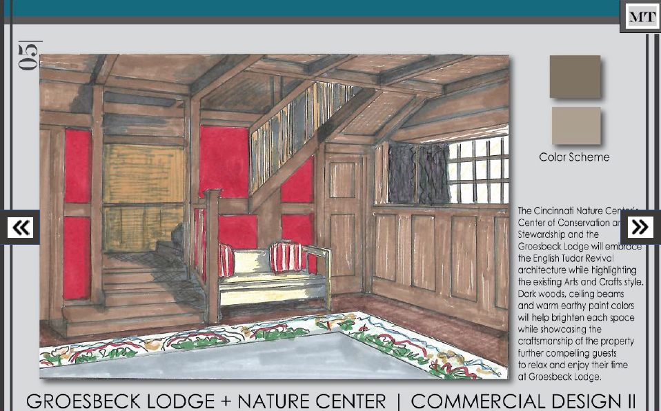 Lodge and nature center concept design sketch