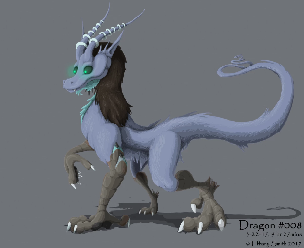 2D Drawing of Dragon Character
