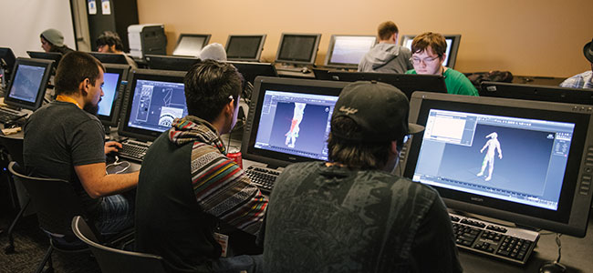 Animation & Effects students working at The Art Institute of Pittsburgh