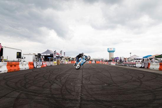 Stunt riders compete in a national championship