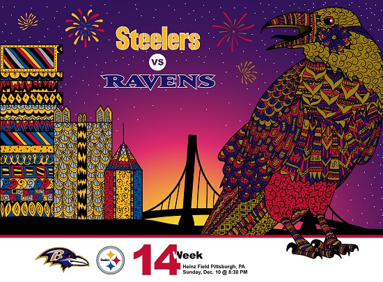 NFL Pittsburgh Steelers vs Baltimore Ravens