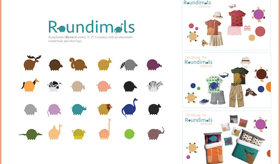 Roundimals art project from Ai Pittsburgh student