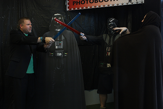 President Crowe fighting three Siths