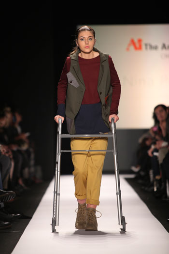 Megan Silcott on MBFW Runway