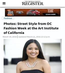 Orange County Fashion Students Participate in OC Fashion Week's Fall Show