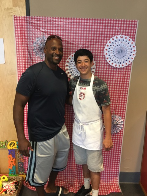 Mr. Burgess and Jr. Chef Adam