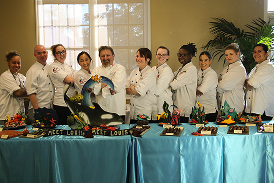 The Art Institute of California-San Diego students and Chef Lechner