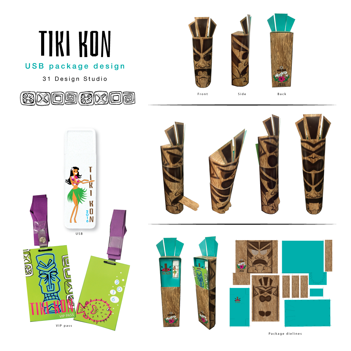 USB Package for Themed Event - Tiki Kon