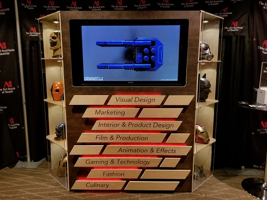 Demo reel station designed and built by Industrial Design students