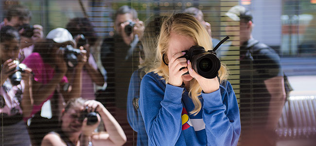 Students Taking Photos at The Art Institute of Virginia Beach Digital Photography School