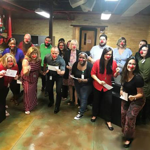 Tampa Campus Fundraises for Red Nose Day 2018
