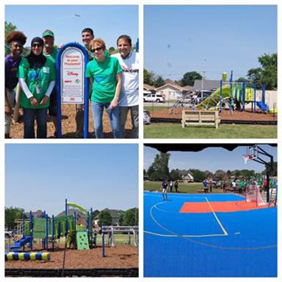 Dr. Abdullah Alshboul, assistant professor, recently represented Argosy University as a volunteer helping to build a playground and sport court for Maddock Elementary School