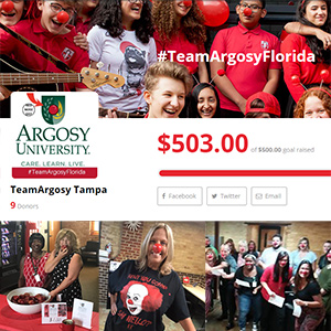 Tampa and Sarasota Campuses Raise Money for Red Nose Day