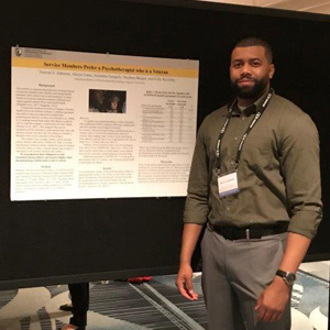 PsyD students Travon Johnson and David Dzhrnazyan presented their doctoral research projects at a national conference