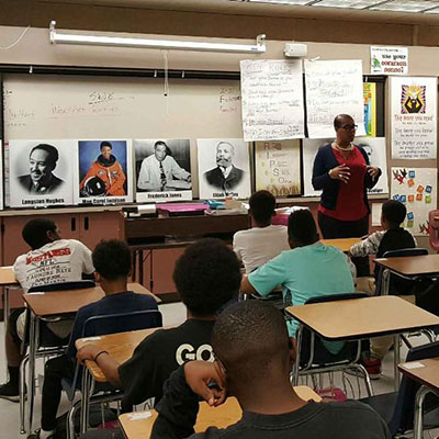 Inland Empire Faculty Member Leads Talk at the Westside Rites of Passage Program