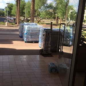 Argosy University, Online Programs Employees Donate 34,265 Bottles of Water to Help Phoenix Rescue Mission