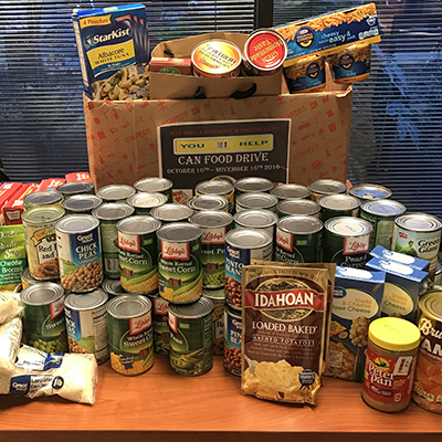 Dallas Campus Holds Canned Food Drive