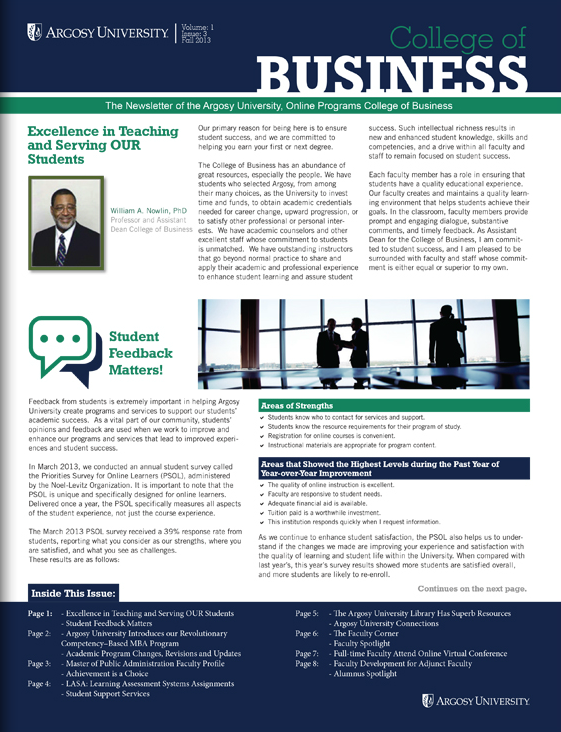get the latest college of business newsletter here