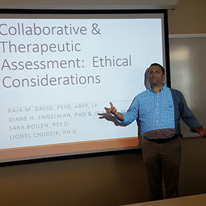 Twin Cities' Dr. Raja David Participates in Collaborative/Therapeutic Assessment Conference