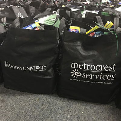 Argosy University, Dallas Helps Metrocrest Prepare Snacks and Meals for Kids