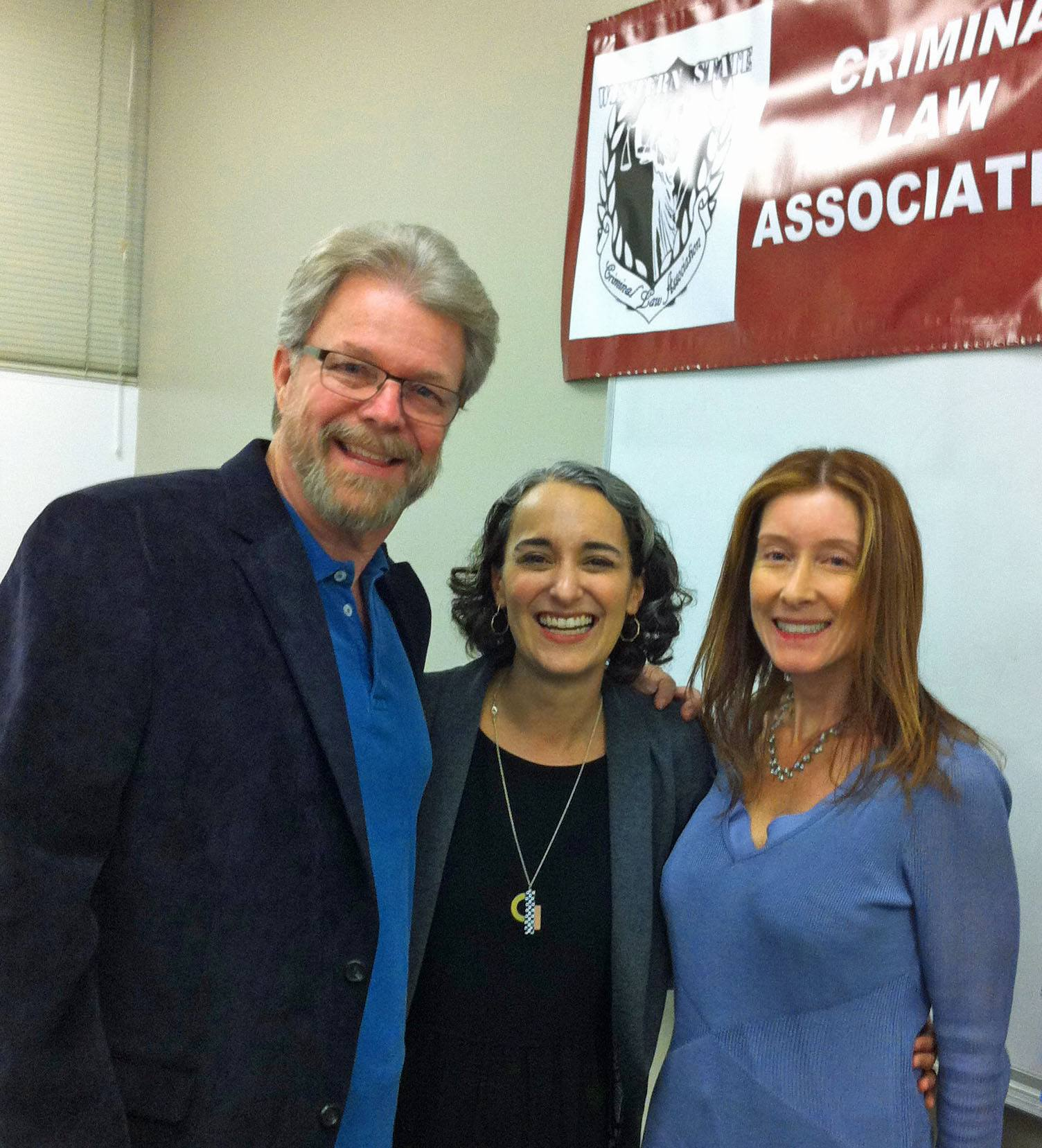 Three people with criminal law association